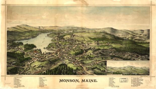 Monson Birdseye View 1889