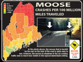 Moose Crash Map MDOT (2008)