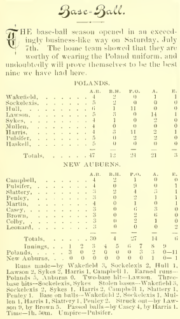 Poland baseball, July 1894