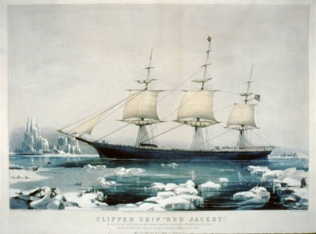 """Red Jacket"": In the ice off Cape Horn, on Passage from Australia, to Liverpool, August 1854"