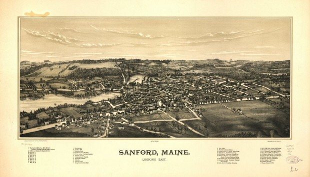 Sanford Birdseye View 1889