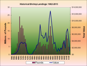 Shrimp Landings 1962-2013