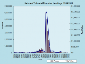 Yellowtail Flounder Landings 1950-2011
