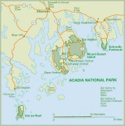 Map of Acadia National Park and Surrounding Area