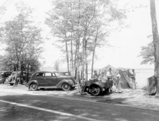 Picnicking Near the Lake in Sebago (c. 1940)