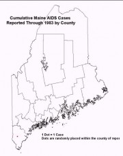 Map: Cumulative AIDS Cases Reported Through 1983