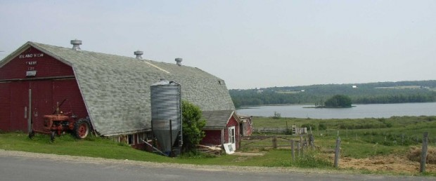 Island View Farm overlooking Lovejoy Pond from the Pond Road (2003)