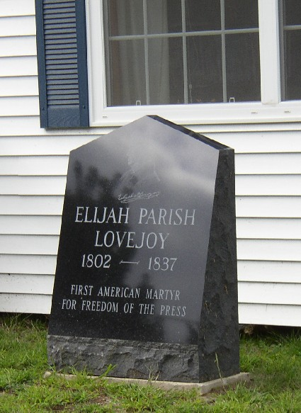 biography of elijah parish lovejoy essay Elijah parish lovejoy was born in albion, maine, on nov 9, 1802 his father, rev  daniel lovejoy, was a well known presbyterian minister.