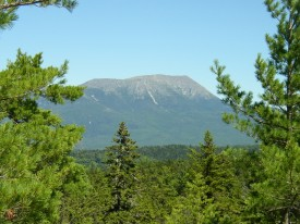 Mount Katahdin from the Rainbow Ledges