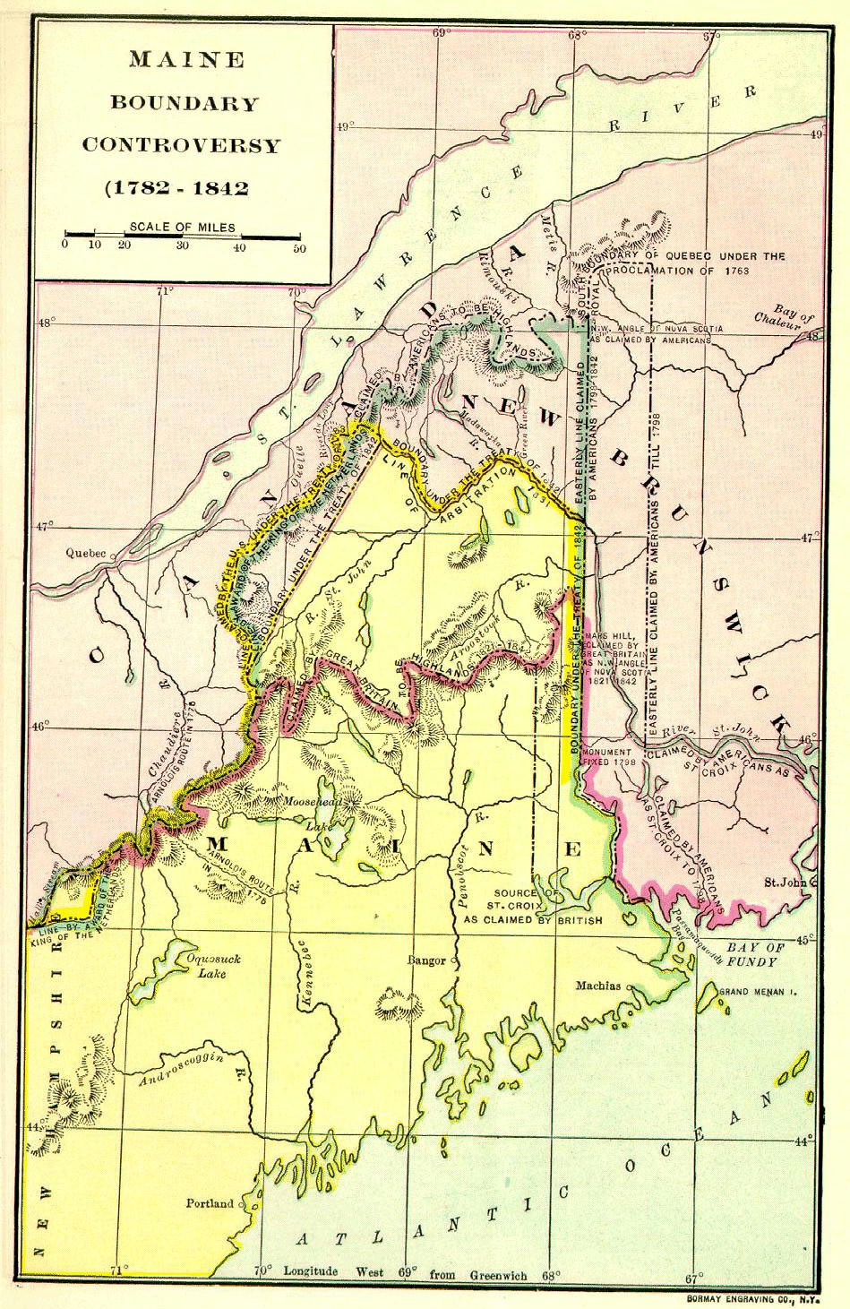 Webster Ashburton Treaty | Maine: An Encyclopedia
