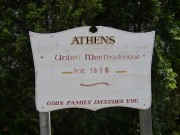 Sign for the Athens Community Meeting House (2003)