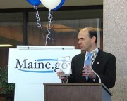 Center for Digital Government presents first place award for its annual Best of the Web competition to Governor Baldacci, January 27, 2005.