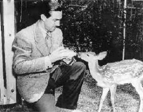 "Photo: Maine ""Bambi"" Model with Walt Disney (1930)"