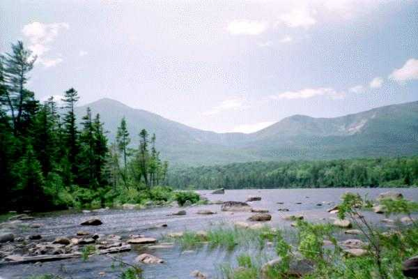 Photo: Mount Katahdin from Sandy Stream Pond (1996)