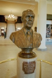 Bust of Governor Baxter in the State House