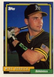 Mike Bordick Baseball Card