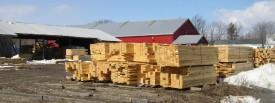 Lumber Stacked Near Sawmill