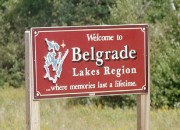 sign: Welcome to Belgrade Lakes Region (2002)