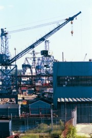 Photo: Shipyard at Bath Iron Works (2000)