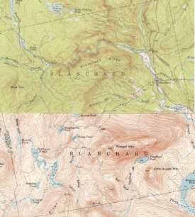 1950/51 Topographic Map of Blanchard
