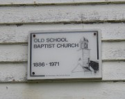 Sign: Old School Baptist Church (2003)