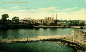 Eastern Manufacturing (postcard c. 1910), later Eastern Fine Paper Company