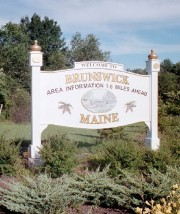 Sign: Welcome to Brunswick Maine (2002)