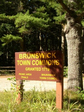 Sign: Brunswick Town Commons (2003)