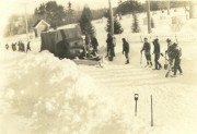 """After the drift was shoveled"" near the Alfred Camp, 1934"