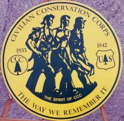 CCC Association Medallion at Augusta Memorial Dedication, 2001