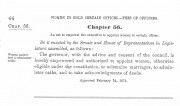 1875 Law Giving the Authority to Solemnize Marriage and Administer Oaths