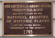Plaque on Archibald-Adams House (2004)