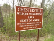 Sign: Chesterville Wildlife Management Area (2005)