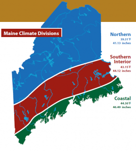 Maine Climate Divisions from Maine