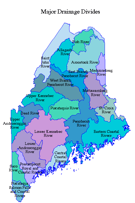 St John River Maine Map.Rivers Maine An Encyclopedia