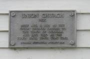 Union Church Plaque (2009)