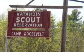 Sign: Katahdin Scout Reservation, Camp Roosevelt (2004)