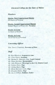Program, 2004 Maine Electoral College, p. 2