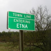 Sign: Town Line, Entering Etna (2005)