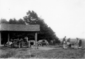 Picnicking in Jefferson (1930's) George French Collection, Maine State Archives