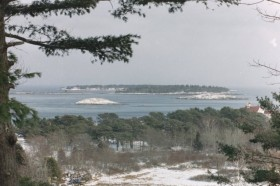 Islands in the Kennebec River from Fort Baldwin (2001)