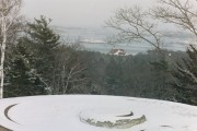 Cannon Emplacement Overlooking Islands in the Kennebec River (2001)