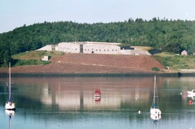 View of Fort Knox from Bucksport (2001)