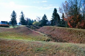 Remains of Earthworks at Fort Pownall (2001)