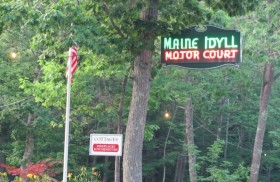 Sign for Maine Idyll Motor Court