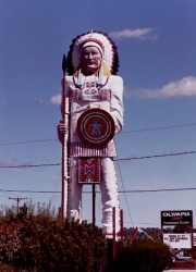 Large Indian on U.S. Rt 1 (2001)
