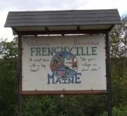 Sign: Welcome, Bienvenue, Frenchville (2003)