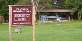 Sign: Franklin Memorial Park (2004)