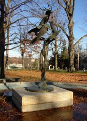Sculpture in City Park in Memory of Dr. Gideon Stinson Palmer (2005)