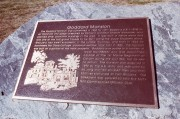 Plaque Summarizing the History of Goddard Mansion and builder John Goddard (2001)